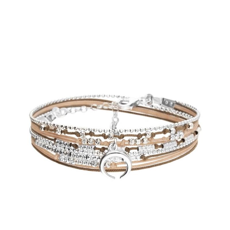 Bracelet wavy-croissant...