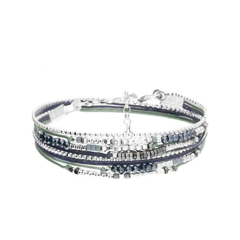 Bracelet égérie vert-bleu -...