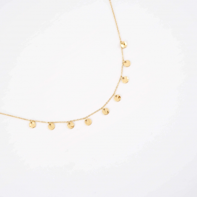 Terrence gold necklace -...