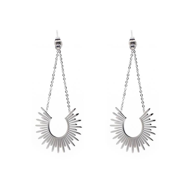 Soleil silver earrings -...