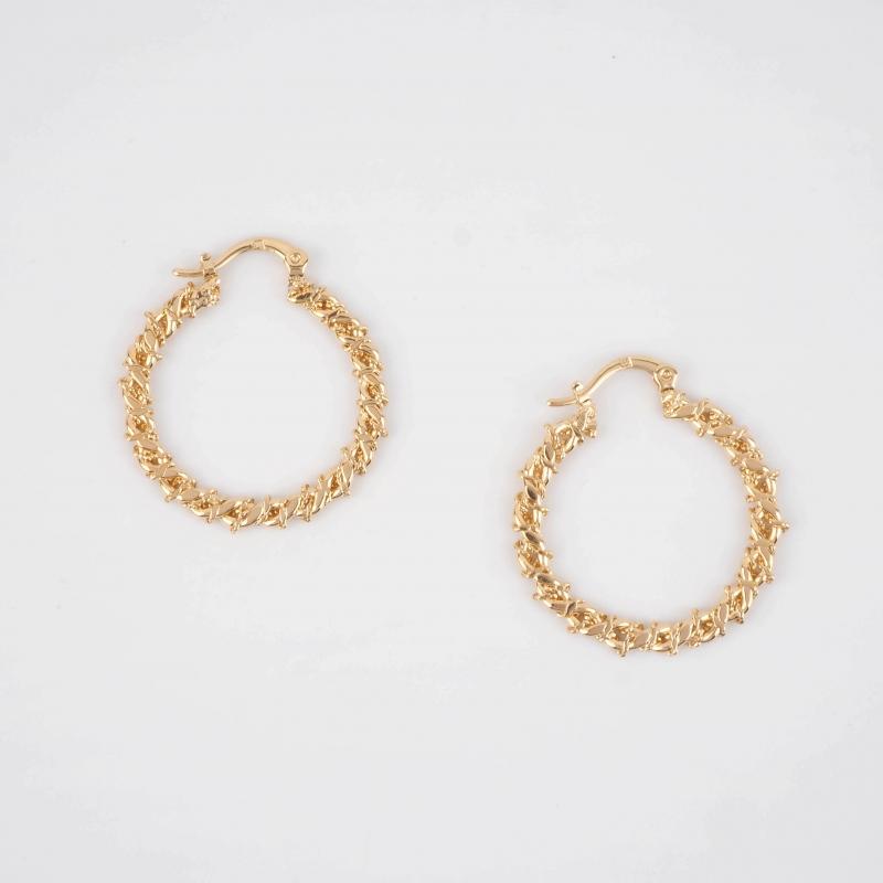 Elaura gold hoops earrings...
