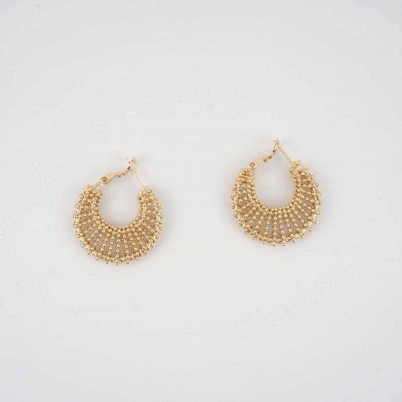 Aylin gold hoops earrings -...