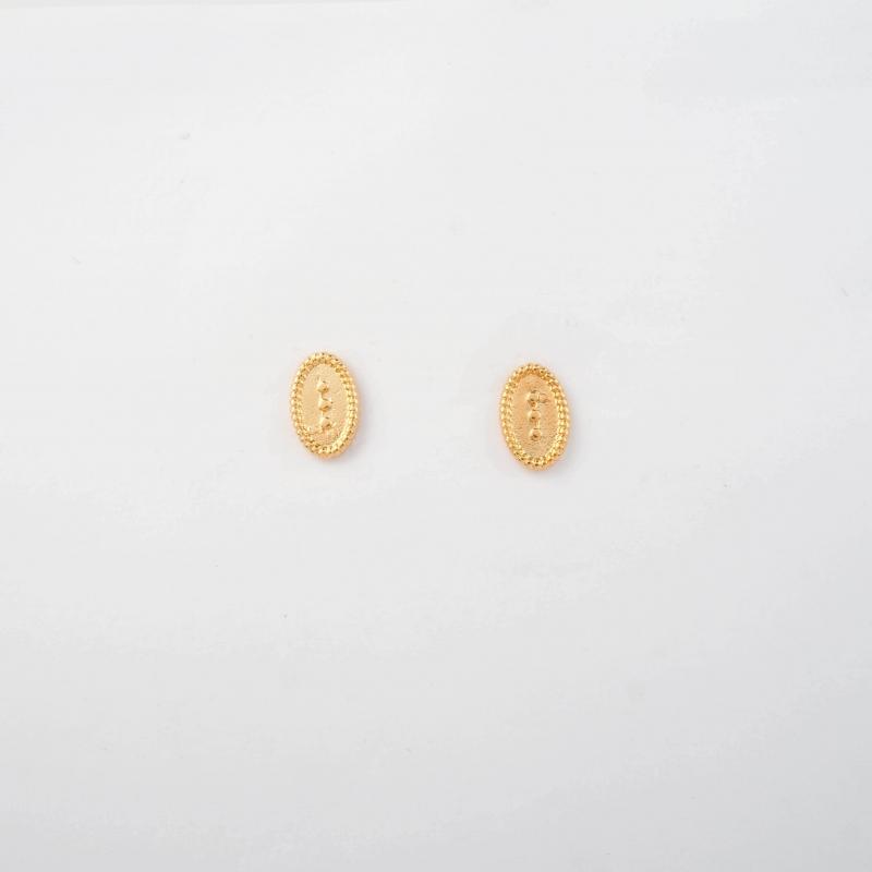 Elen gold ear studs - Pomme...