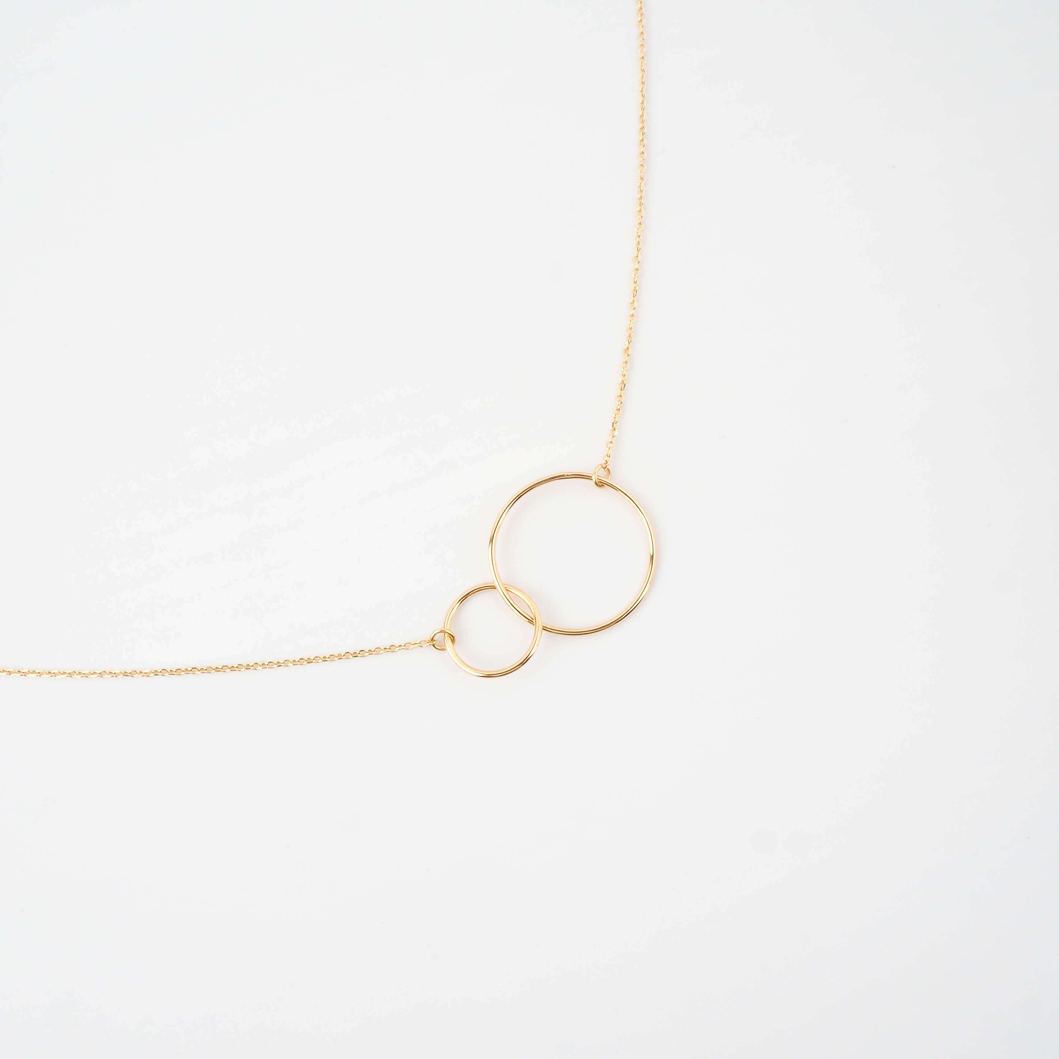 Collier double cercle xl en plaqué or - Pomme Cannelle