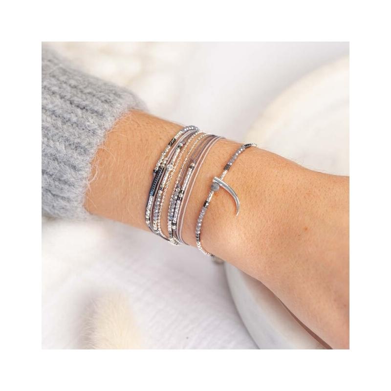 Bracelet égérie gris en...