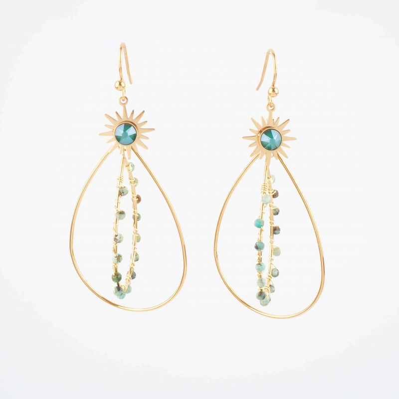 Boucles d'oreilles Opale en...