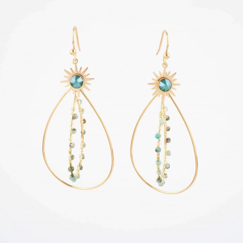 Opale gold earrings - Bohm...