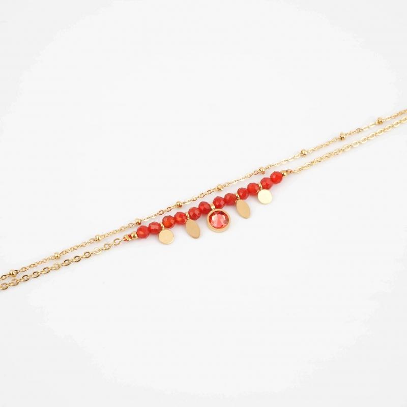 Jay red gold bracelet -...
