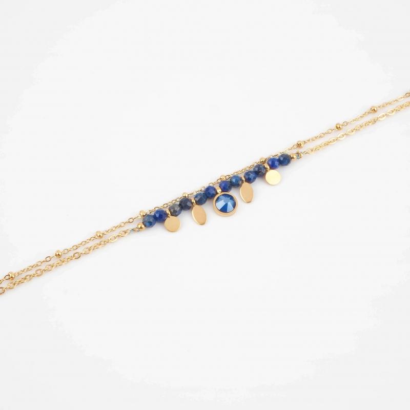 Bracelet Jay bleu en acier...