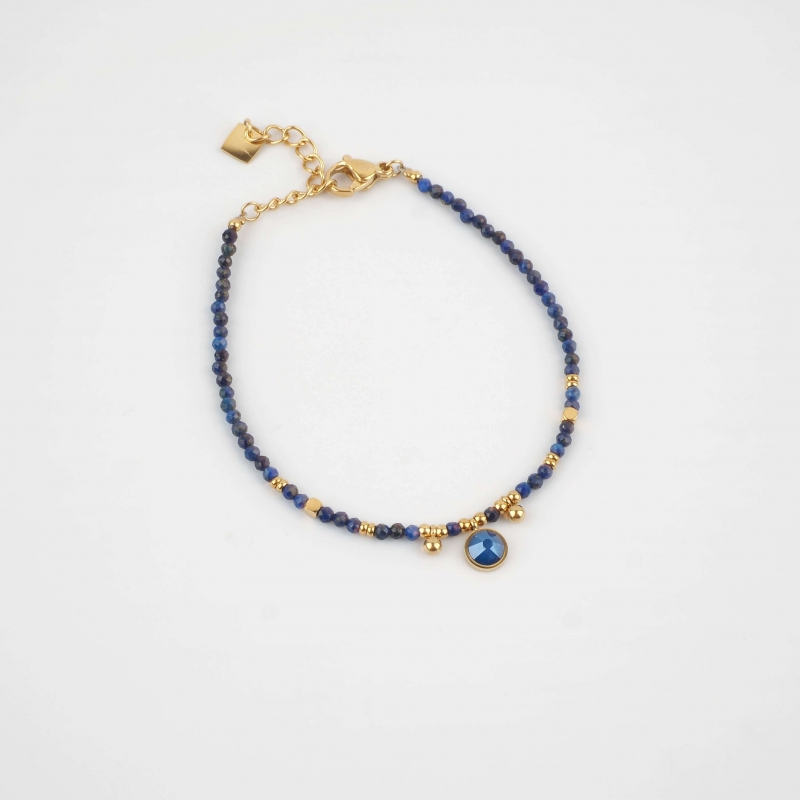 Diwan blue gold bracelet -...
