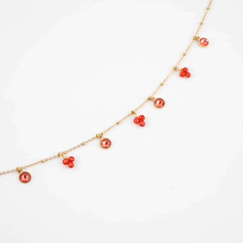 Heni red gold necklace -...