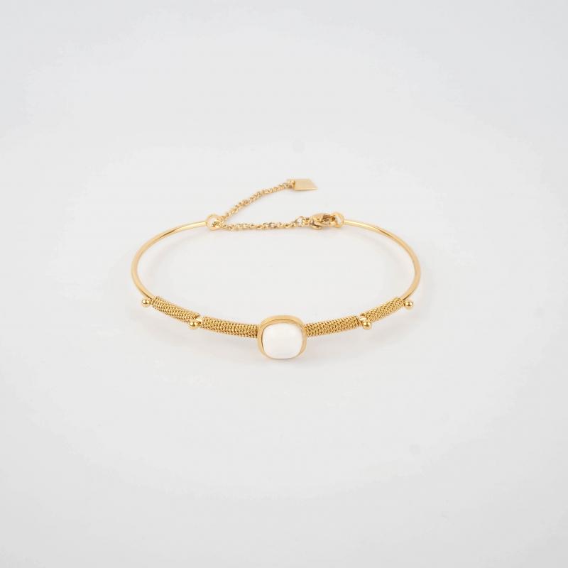 Bracelet jonc Afshin blanc...