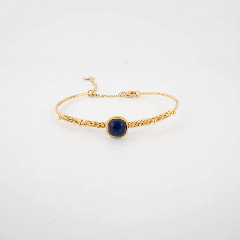 Afshin blue gold bangle...
