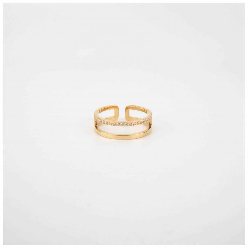 Alina gold ring - Zag Bijoux