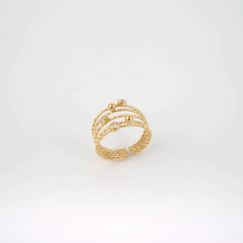 Astar gold ring - Zag Bijoux