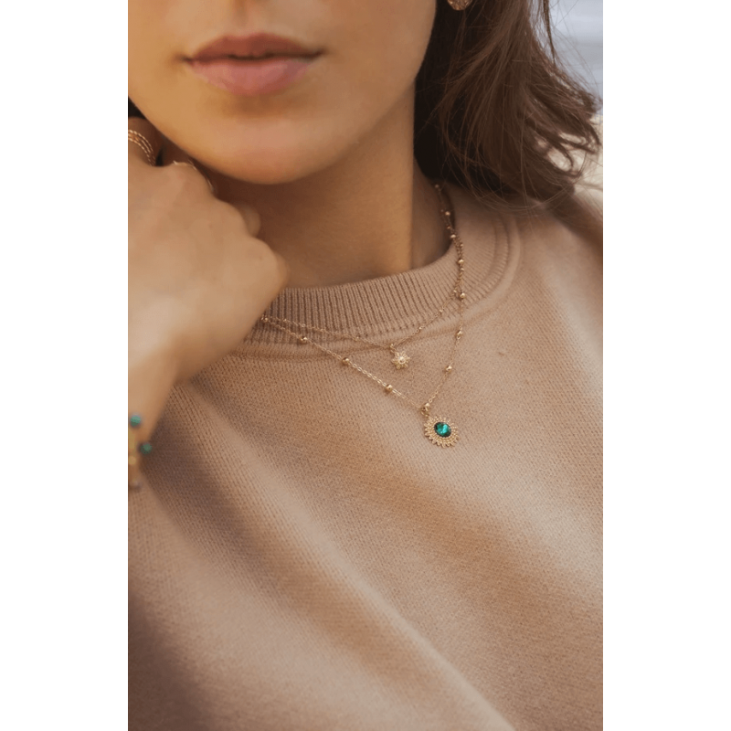 Dao green gold necklace -...