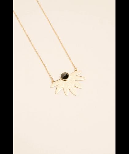 Collier Arielle noir en acier - Bohm Paris