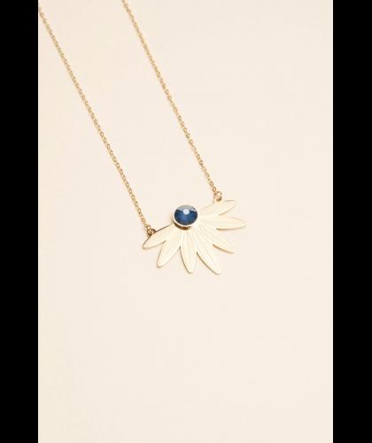 Collier Arielle bleu en acier - Bohm Paris