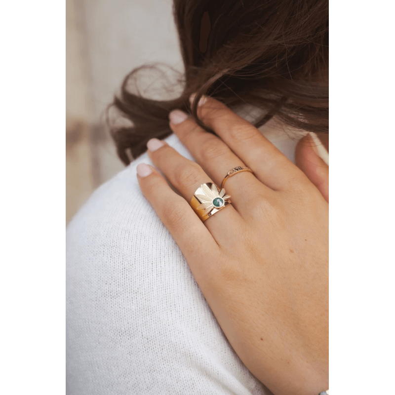 Luti blue gold ring - Bohm...