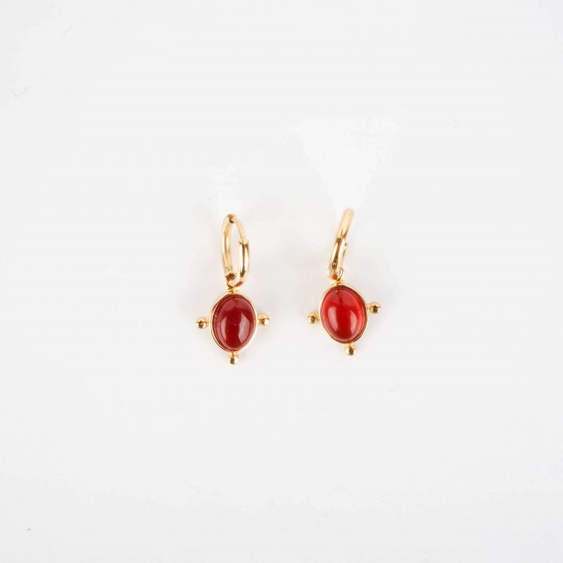 Lya red gold hoop earrings...