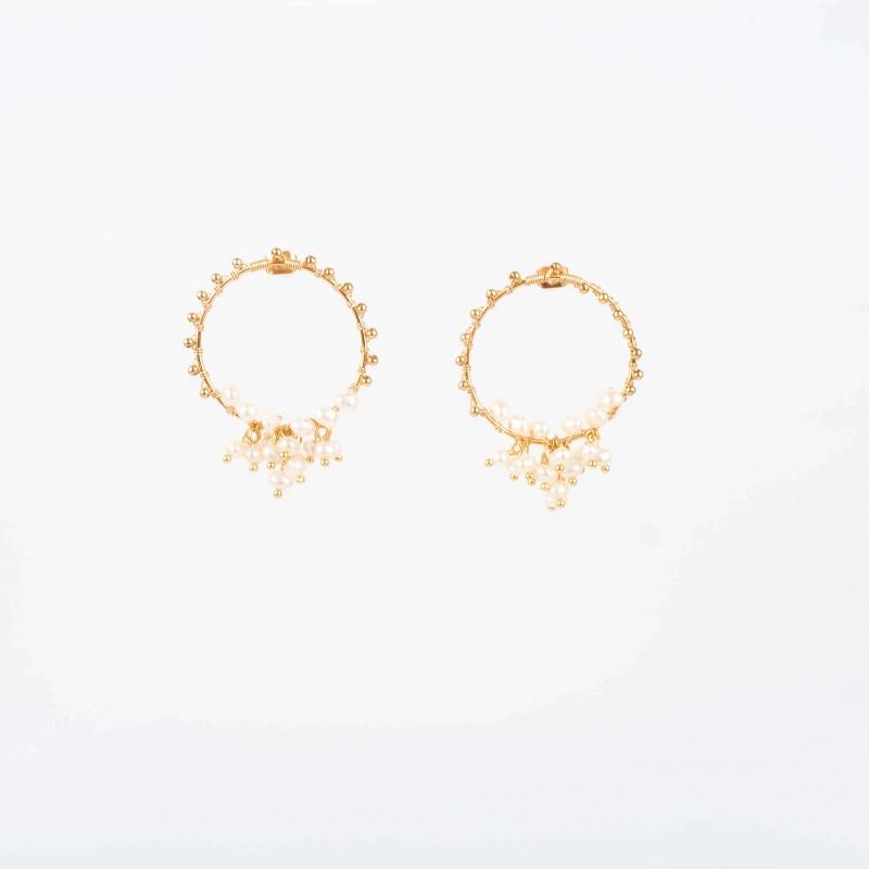 Boucles d'oreilles Jessye en acier - Zag Bijoux