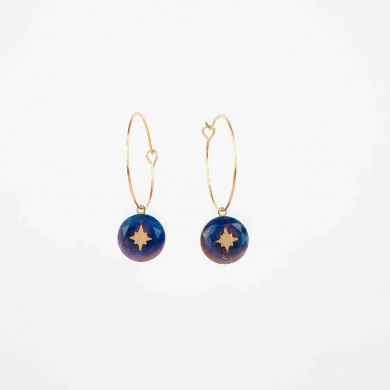 Elza gold hoop earrings -...