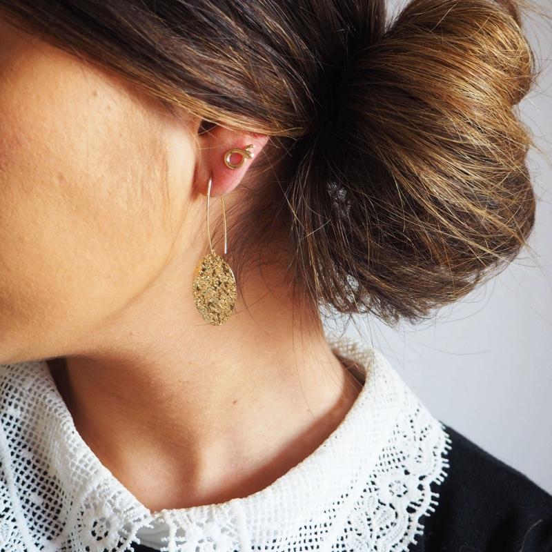 Apophis gold ear studs -...