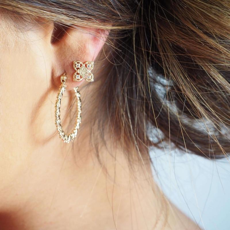 Layana gold ear studs -...