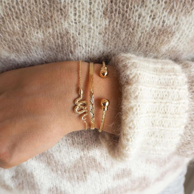 Ewan gold bangle bracelet -...