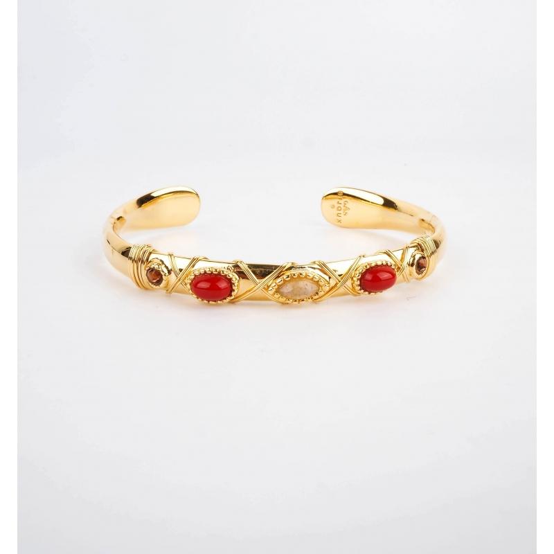 Bracelet jonc Matta or -...