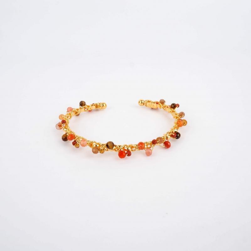 Bracelet jonc Orphée or -...