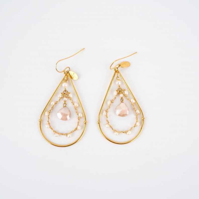 Orphee mini gold earrings -...