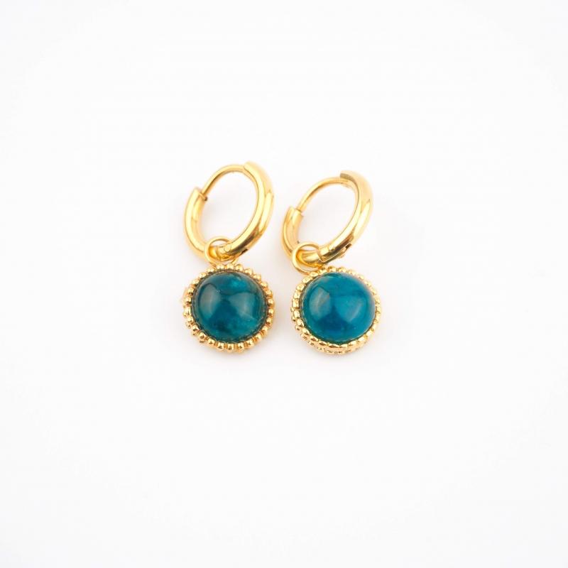 Lydie blue gold hoops...