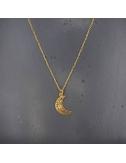 Collier lune en laiton doré...