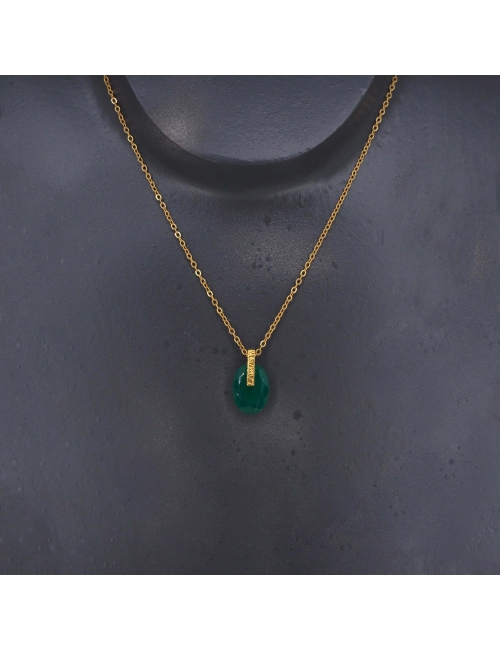 Cleopatre green gold necklace - LuckyTeam