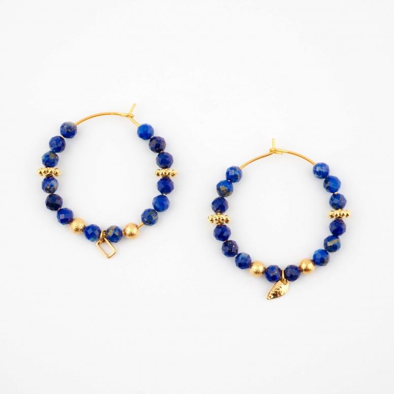 Murielle blue gold hoop...