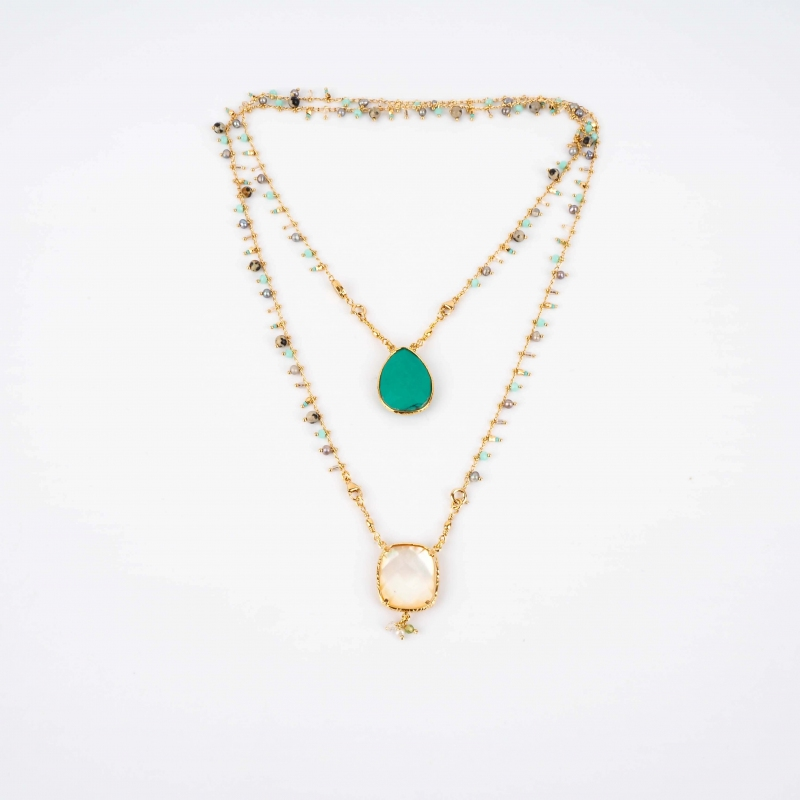 Scapular turquoise gold...