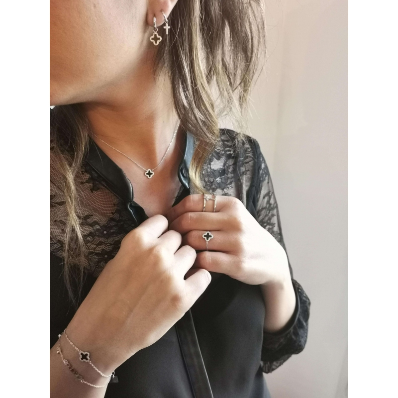 Bonnie full silver ring -...