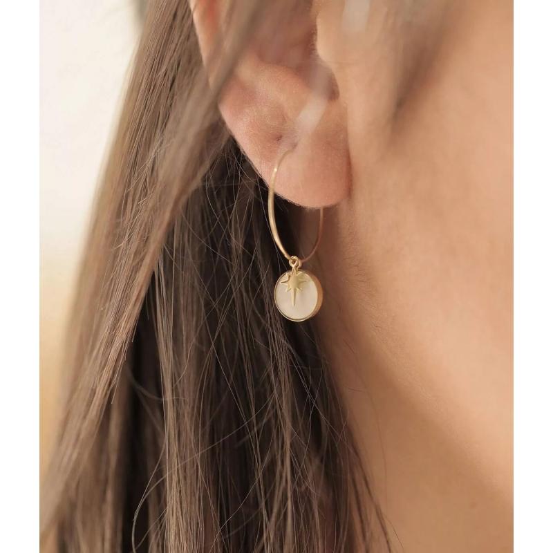 Polar hoop earrings in gold...