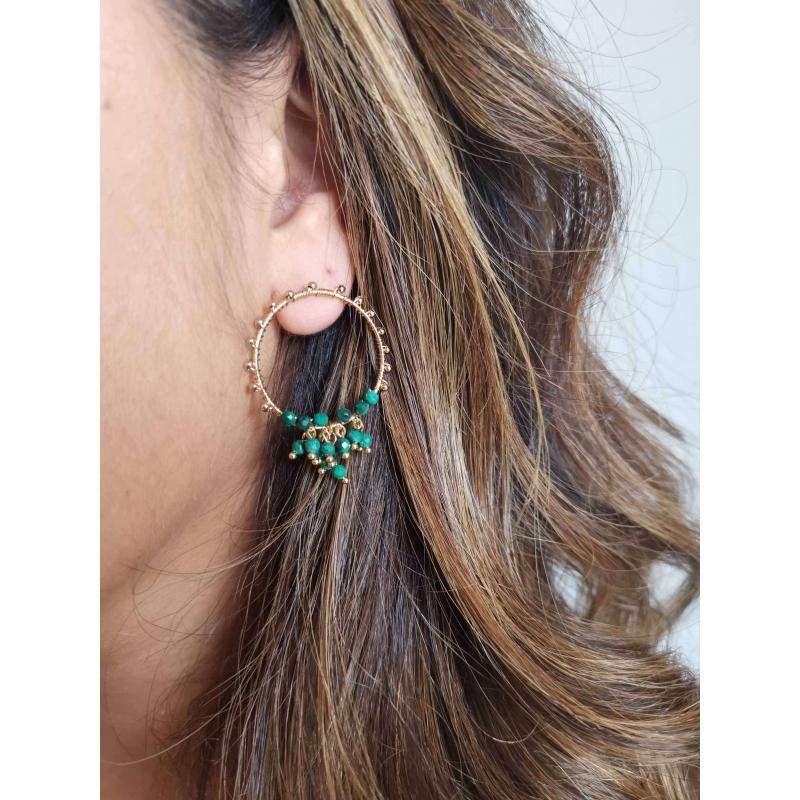 Grappa pearl gold earrings...