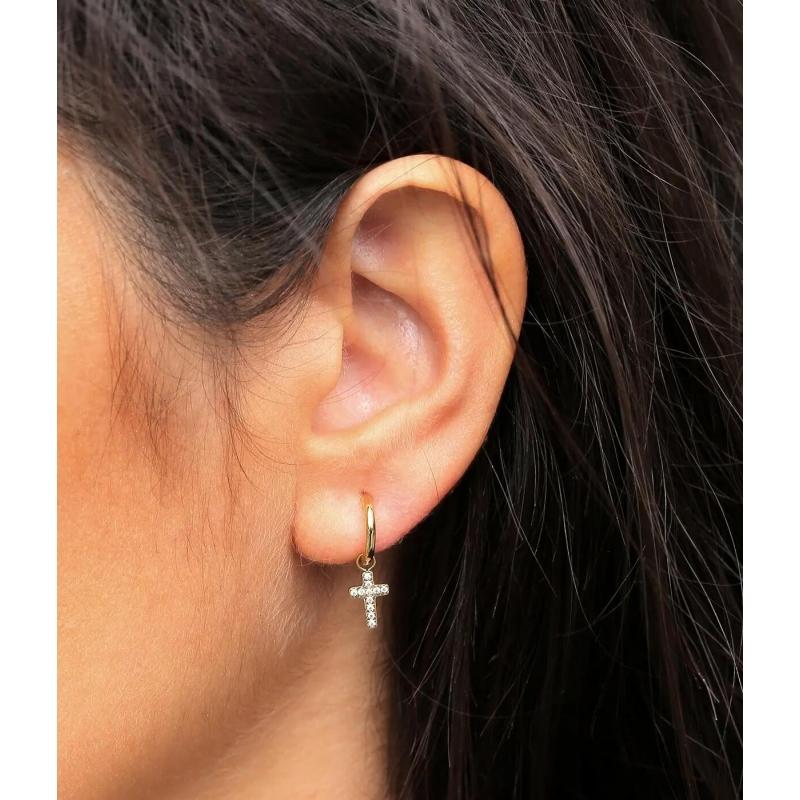 Roxane silver hoop earrings...