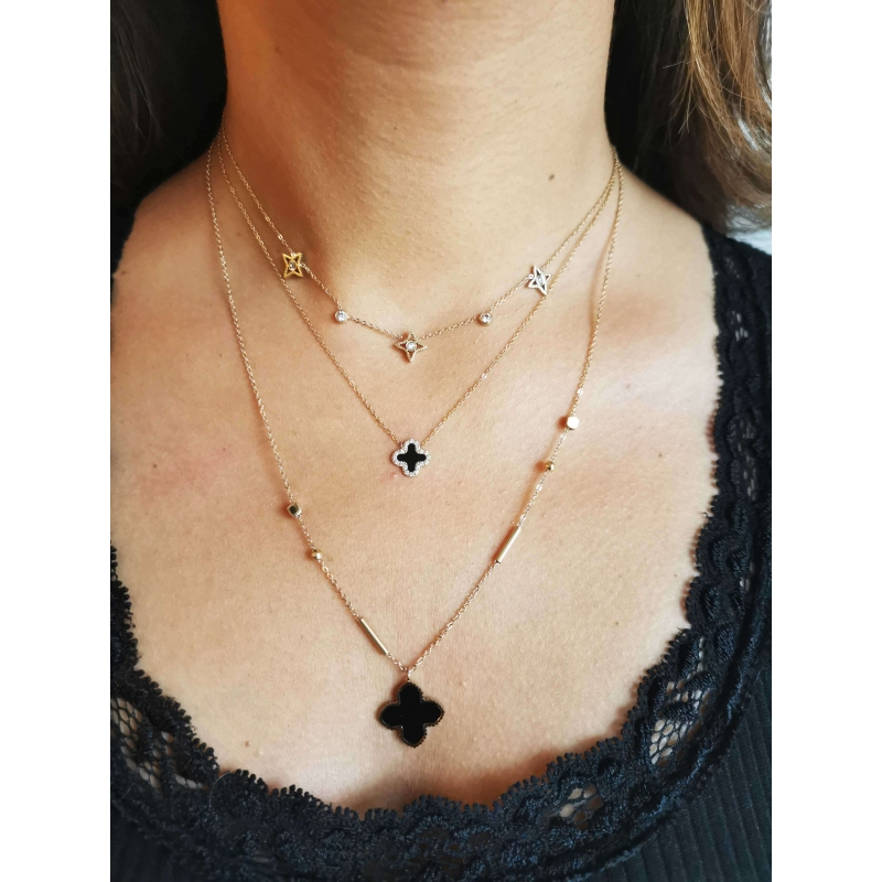 Bonnie Full gold necklace -...