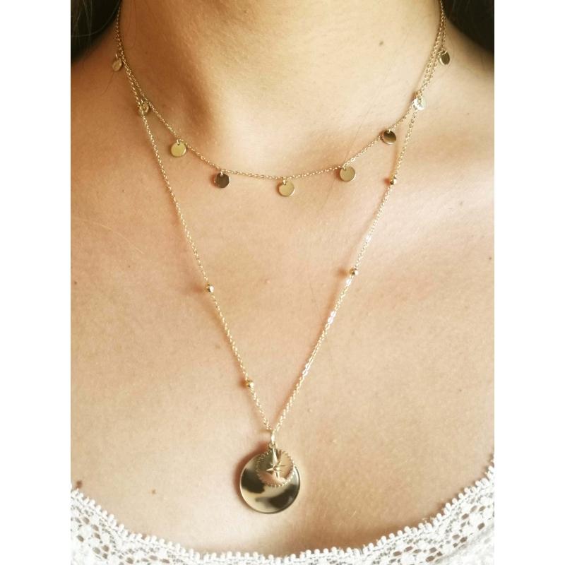 Helena gold necklace - Zag...