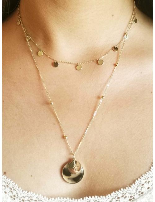 Helena gold necklace - Zag Bijoux