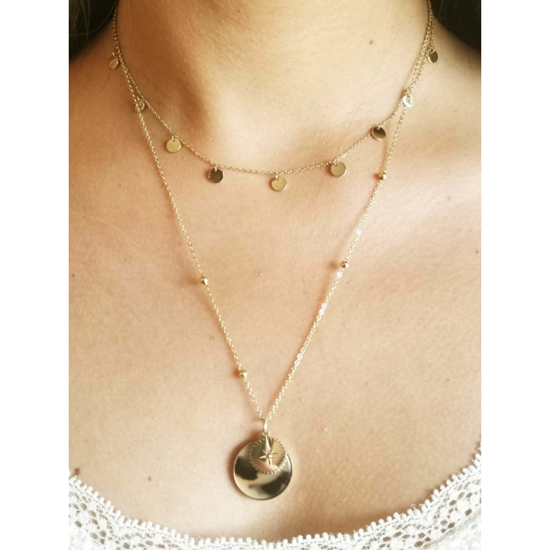 Thaïs necklace in acetate -...