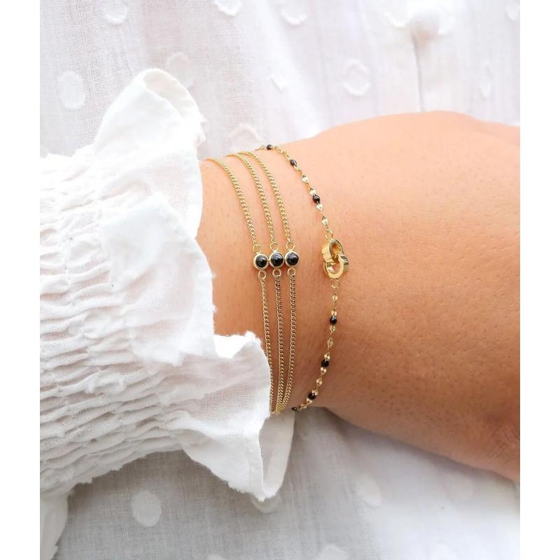 Bracelet Ormiga noir en...