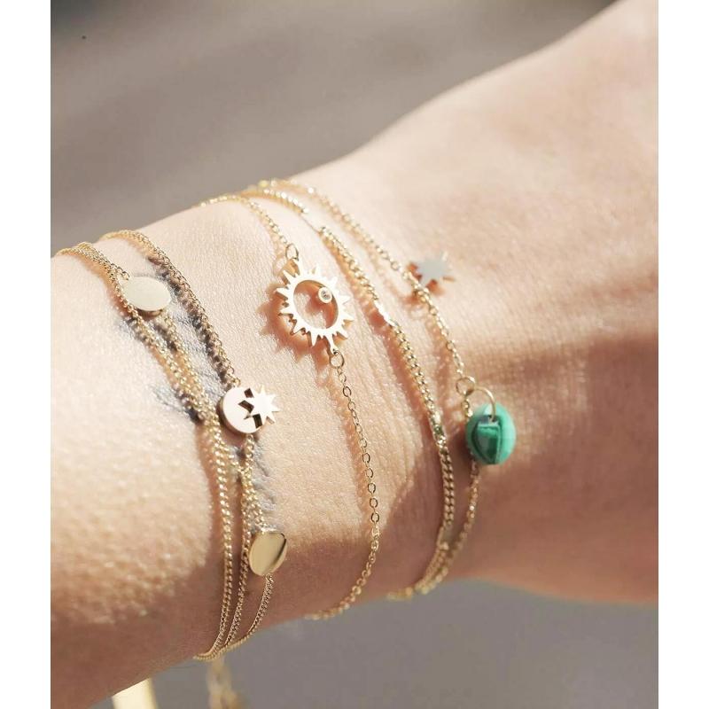 Bracelet stone polar lapis...