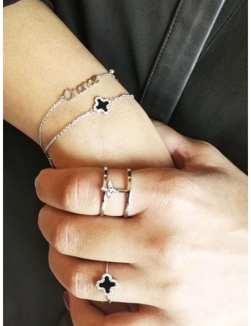 Bracelet Chance en acier -...