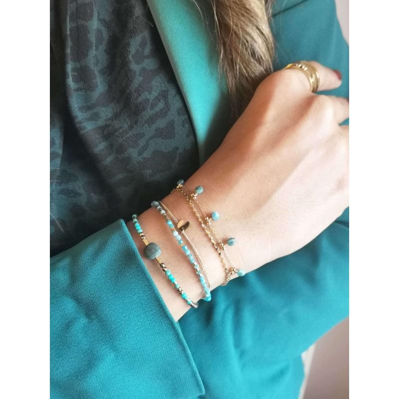 Apatite pearl bracelet in...