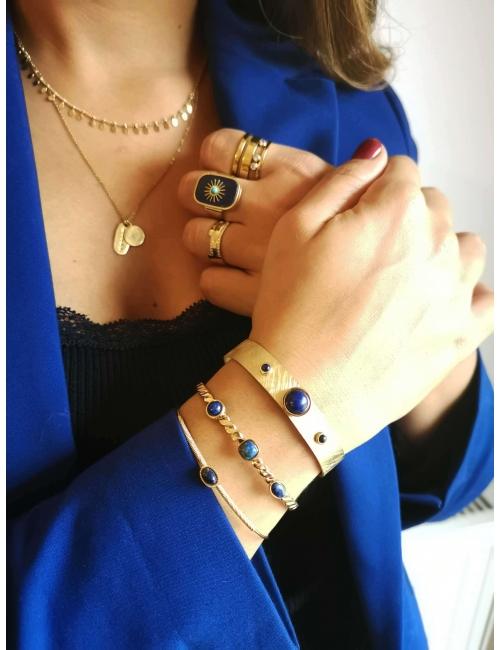 Bracelet jonc stone ovale...